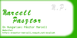 marcell pasztor business card